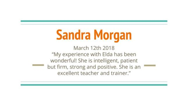 Sandra Morgan Review